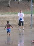 Boys basketball im the rain